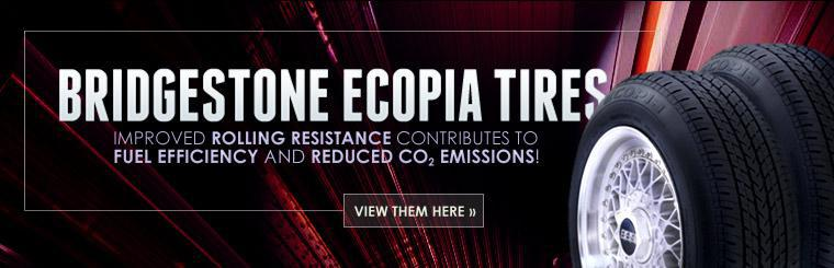 Ecopia Tires: Imrpoved rolling resistance contributes to fuel efficiency and reduced CO2 emissions!