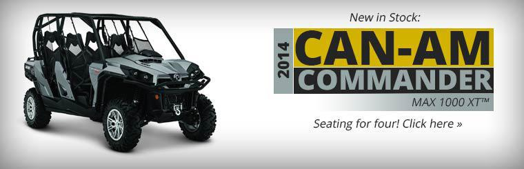 The 2014 Can-Am Commander MAX 1000 XT™ has seating for four. Click here to view the model online.