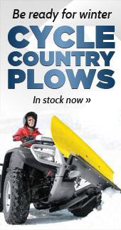 Be Ready for Winter. Cycle Country Plows In stock now.