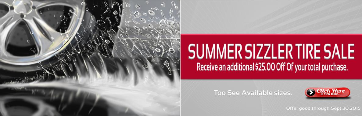 SUMMER SIZZLER TIRE SALE