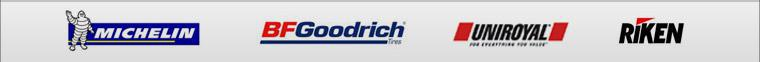 We are proud to carry Michelin®, BFGoodrich®, Uniroyal® and Riken!