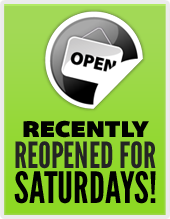 Recently reopened for Saturdays!