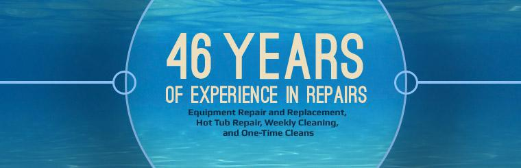 Dolphin Pool Supply & Service has 46 years of experience in repairs!