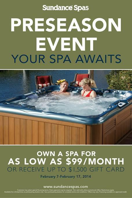 Sundance Spas Preseason Event at Dolphin Pools