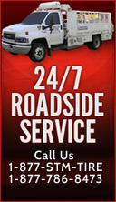 24/7 Roadside Service. Call Us 1-877-STM-TIRE 1-877-786-8473