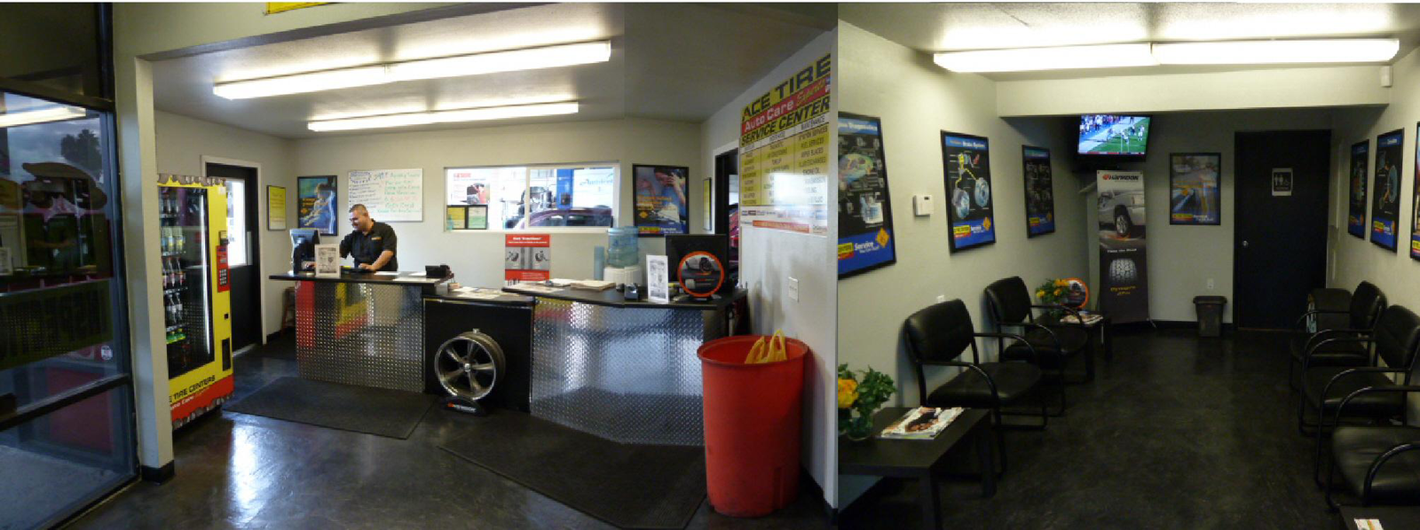 INSIDE ACE TIRE CENTERS of EL CAJON
