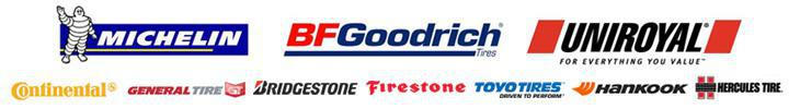 We carry products by Michelin®, BFGoodrich®, Uniroyal®, Continental, General Tire, Bridgestone, Firestone, Toyo, Hankook, and Hercules tire.