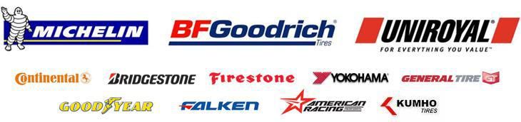 We carry great products from Michelin®, BFGoodrich®, Uniroyal®, Continental, Bridgestone, Firestone, Yokohama, General Tire, Goodyear, Falken, American Car Care Center, and Kumho.