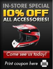 In-Store Special: 10% Off All Accessories! Come see us today! Print coupon here.