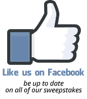 Like us on Facebook — be up to date on all of our sweepstakes.