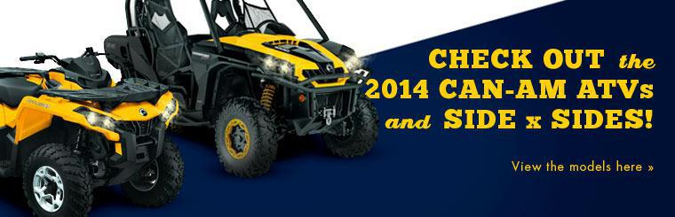 Check out the 2014 Can-Am ATVs and side x sides!