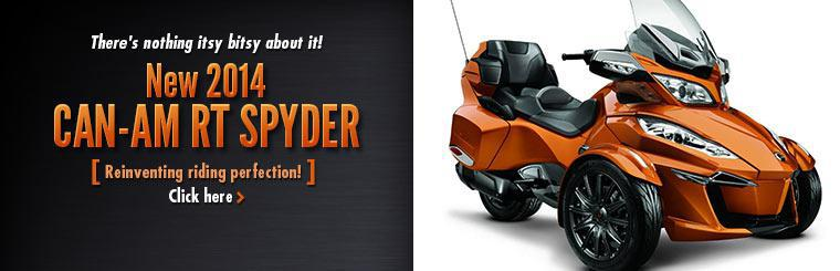 2014 Can-Am RT Spyder: There's nothing itsy bitsy about it!