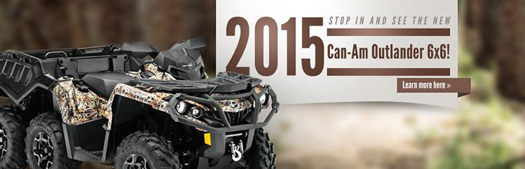 Stop in and see the new 2015 Can-Am Outlander 6x6!