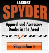 Largest Spyder Apparel and Accessory Dealer in the Area! Shop online here.