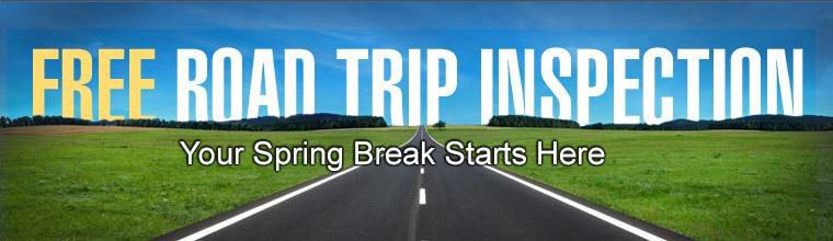 Get a free road trip inspection!
