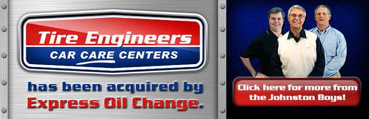 Tire Engineers Care Care Centers has been acquired by Express Oil Change.