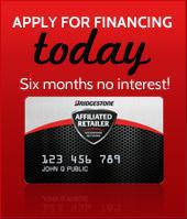 Apply for financing today: six months no interest!