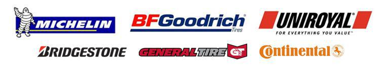 We carry products from Michelin®, BFGoodrich®, Uniroyal®, Bridgestone, General,and Continental.