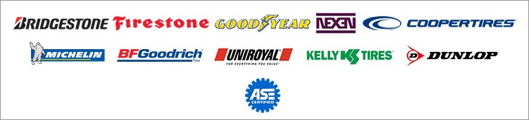 We carry products from Michelin®, BFGoodrich®, Uniroyal®, Bridgestone, Firestone, Goodyear, Kelly, and Dunlop. We are ASE certified.