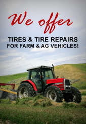 We offer Tires and Tire Repairs.
