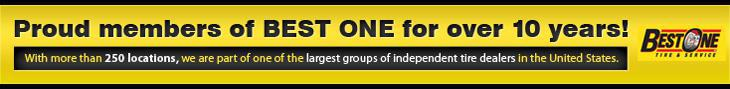 Proud members of Best One for over 10 years! With more than 250 locations, we are part of one of the largest groups of independent tire dealers in the United States.