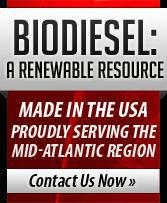 Biodiesel: A renewable resource – made in the USA. Proudly serving the mid-Atlantic region. Contact Us Now.