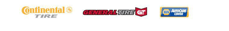 We carry quality tires from Continental and General and we are a certified NAPA Auto Care Center.