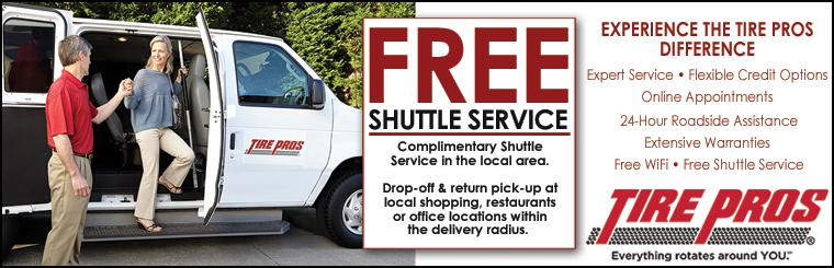 Complimentary Shuttle Service Available in the Local Area