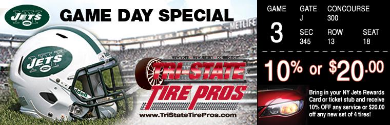 Tri-State Tire Pros Game Day Special