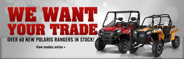 We have over 60 new Polaris Rangers in stock!