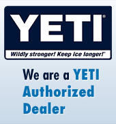 We are a Yeti authorized dealer.