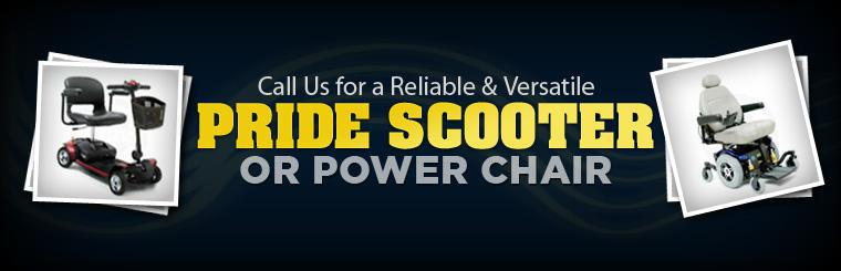 Call us for a reliable and versatile Pride scooter or power chair.
