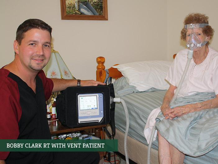 Bobby Clark RT with vent patient