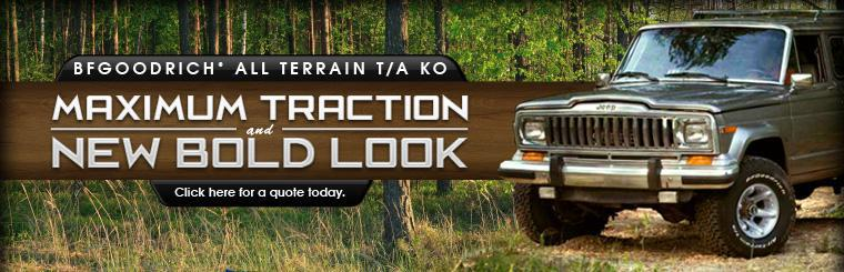 BFGoodrich® All Terrain T/A KO: Maximum traction and new bold look. Click here for a quote today.