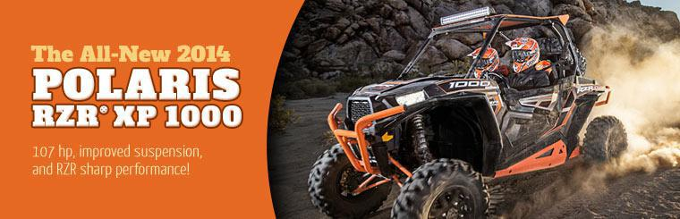 Check out the all-new 2014 Polaris RZR® XP 1000!
