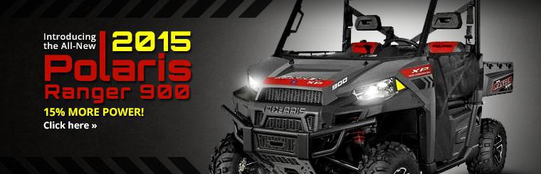 The all-new 2015 Polaris Ranger 900 has 15% more power! Click here to view.