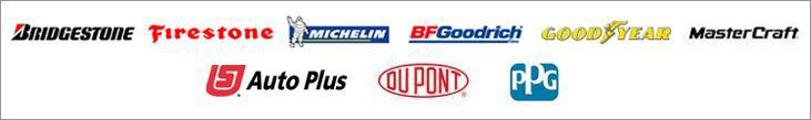 We carry products from Bridgestone, Firestone, Michelin®, BFGoodrich®, Goodyear, MasterCraft, AutoPlus, DuPont, and PPG.