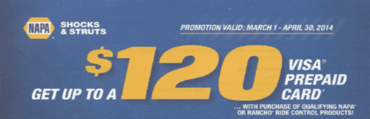 Get up to a $120 Visa Prepaid Card with purchase of qualifying purchase