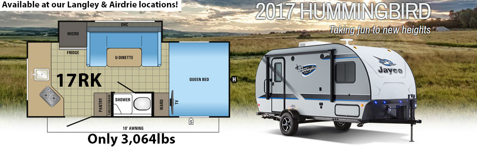 2017 Jayco Hummingbird 17RK Travel Trailer