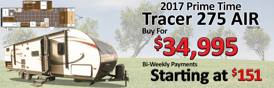 2017 Prime Time Tracer 275 AIR Travel Trailer at Traveland RV
