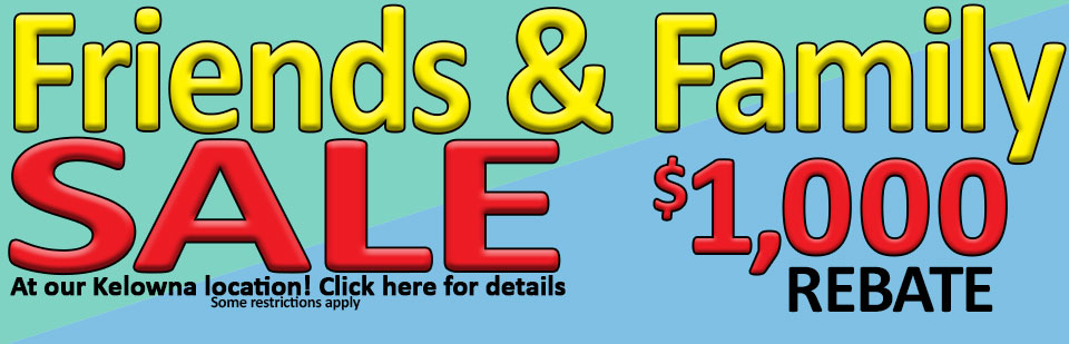 Friends & Family Sale at Traveland RV - Kelowna