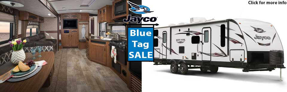 Jayco RV Blue Tag sale in Langley, BC & Airdrie, AB