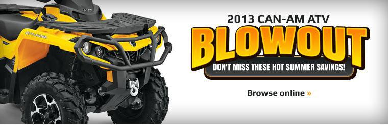 2013 Can-Am ATV Blowout: Click here to browse the models.