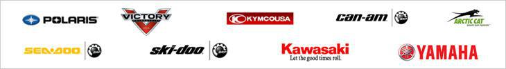 We carry products from Polaris, Victory, KYMCO, Can-Am, Arctic Cat, Sea-Doo, Ski-Doo, Kawasaki, and Yamaha.