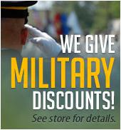 We give Military discounts!