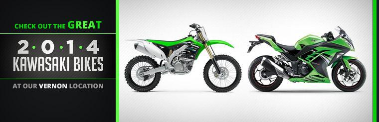 Check out the great 2014 Kawasaki bikes at our Vernon location.