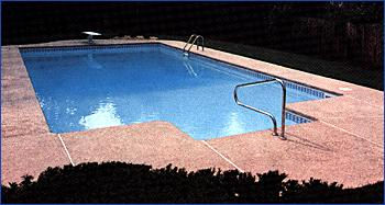 Rectangle Pool With Spa stock pools gallery lapeer pool, spa & patio inc. lapeer, mi (888
