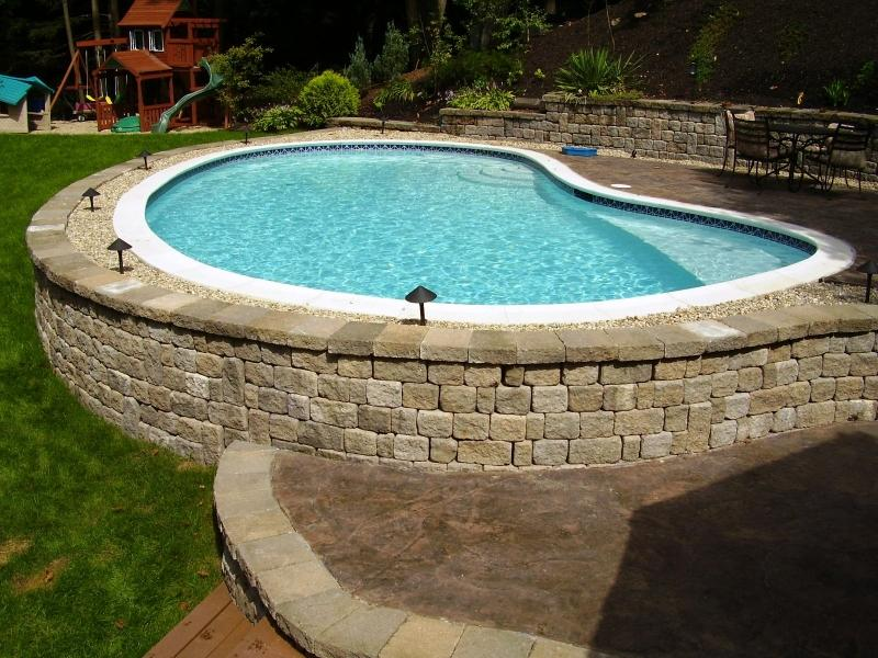 Raised Gunite Pool - Aquatime Pools & Spas Inc.