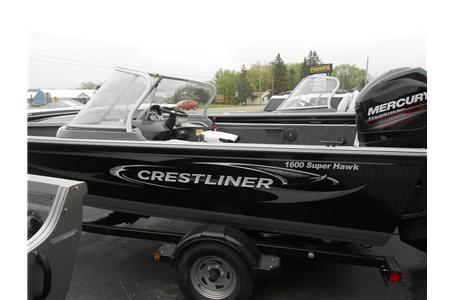 2013 Crestliner 1600 Super Hawk 90 HP Mercury 4-Stroke