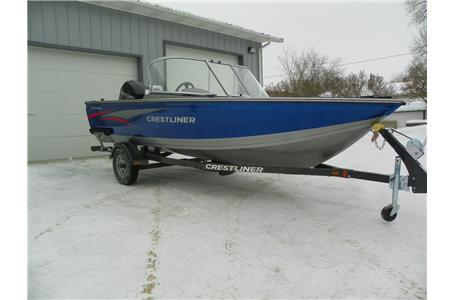 2014 Crestliner 1650 Fish Hawk WT W/Mercury 90 HP 4-S